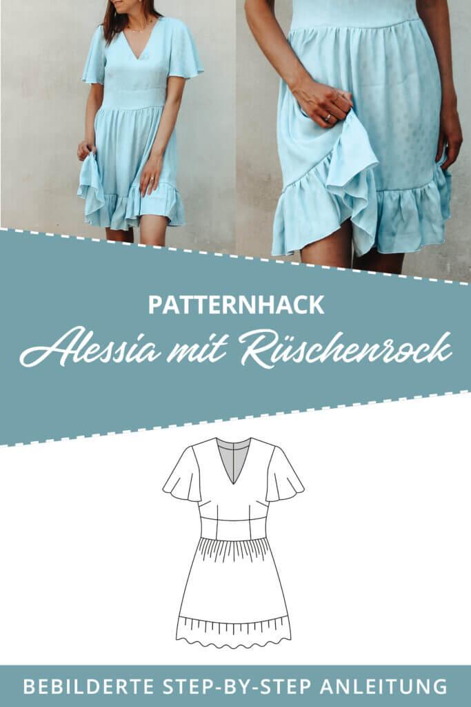 Patternhack Alessia mit Rüschenrock nähen